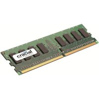 Crucial CT12864AA800  1GB DDR2 800MHz/PC2-6400 Memory Non-ECC Unbuffered CL6 Lifetime Warranty