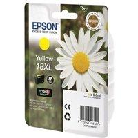 Image of Epson 18XL Yellow Ink Cartridge