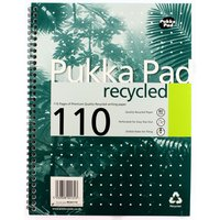 Pukka Quality Recycled A4 Pad 80gsm 100p - 3 Pack