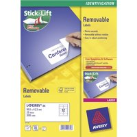 AVERYL REMOVABLE LABELS 8TV WHITE