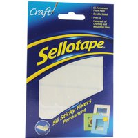 Image of Sellotape Sticky Fixer 12X25mm Adhesive Pads - 56 Pack