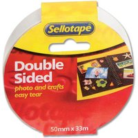 Image of Sellotape Doublesided Tape 50mmx33M 2294 - 3 Pack
