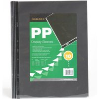 Goldline Display Sleeves Polypropylene Reinforced 150 Micron 6 Hole A2 Clear (Pack 10)