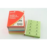 Silvine Cloakroom Ticket 1-1000 1000-t - 6 Pack