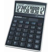 Aurora DT910P Desk Calculator - Black