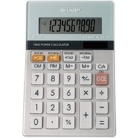 Sharp EL-331ER Semi Desktop Calculator - Silver