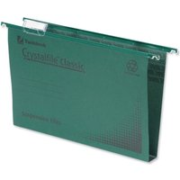 Rexel Crystalfile Classic Suspension File Complete 30mm A4 Green (Pack of 50)
