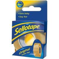 Image of Sellotape 18mmx10m Sellotape Golden Tape - 8 Pack