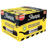 Image of Sharpie Metal Perm Markr Xlrg Chisel Blk - 12 Pack