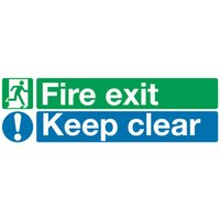 FIRE EXIT KEEP CLEAR 15X45 PVC EC08S/R