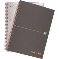 Oxford Blk N Red A5plus Matt Smart Nbk - 5 Pack
