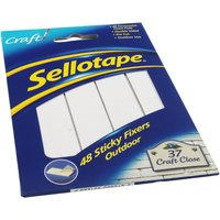 Image of Sellotape 783895 Sticky Outdoor Fixer - 20x20mm - 48 Pack