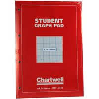 Image of Chartwell Graph Pad A4 Red