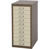 Bisley Multidrawer Non Locking 10 Drawer Cabinet - Coffee/ Cream