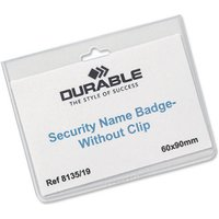 Image of Durable Security Badge Without Clip 60x90mm 20 Pack