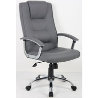 'Hh Solutions Hh7108gy Adjustable Executive Leather Chair - Grey