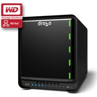 Drobo 5D  Desktop 5-bay DAS Storage Array for PC/Mac, Thunderbolt, USB 3.0 with 2 x 3TB WD Red NAS Hard Drives (DRDR5A31/6TB/RED)