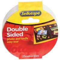 Image of Sellotape Doublesided Tape 25mmx33M - 6 Pack