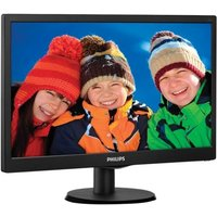 "Philips 203V5LSB26/10 19.5"" LED  VGA Black Monitor"