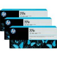 HP 771C 775-ml Light Gray Ink Cart 3Pk