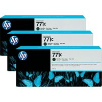 HP 711C 775-ml Matte Black 3 Pack Ink Cartridge - B6Y31A
