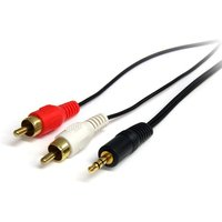 StarTech Stereo Audio Cable Male to 2 x RCA Male 1.8M