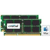 Crucial CT2C8G3S160BMCEU 16GB kit (8GBx2) DDR3 1600 MTs (PC3-12800) CL11 SODIMM 204pin 1.35V 1.5V for Mac