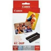 Image of Canon CP Series Inkjet Cartridge and Papers Set KC-36IP
