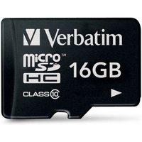 Verbatim 16GB Class 10 MicroSDHC Memory Card