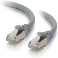 30m Cat6a Booted Shielded (STP) Network Patch Cable - Grey