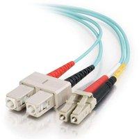C2G LC-SC 10Gb 50/125 OM3 Duplex Multimode PVC Fiber Optic Cable (LSZH) - Network cable - LC multi-mode (M) - SC multi-mode (M)