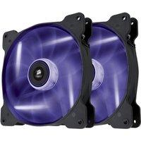 Corsair Air Series SP140 LED Purple High Static Pressure 140mm Fan Twin Pack