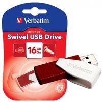 Image of Verbatim Store 'n' Go Swivel (16GB) USB 2.0 Flash Drive (Red)