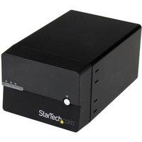 """StarTech.com Dual Bay Gigabit NAS RAID Enclosure for 3.5"""" SATA Hard Drives w/ WebDAV and Media Server"""