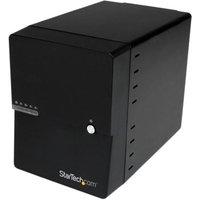 StarTech.com USB 3.0 / eSATA 4-Bay 3.5in SATA III Hard Drive Enclosure w/ built-in HDD Fan & UASP - SATA 6Gbps