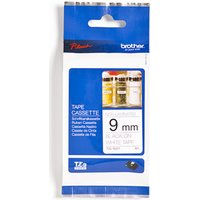 Brother TZE-N221 Black on White Tape - Non Laminated