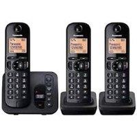 Panasonic KX-TGC223EB Trio Dect Cordless Phone Black