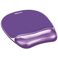 Fellowes Crystal Purple Mousepad & Wrist Rest