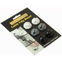 Dline Cable Tidy Bases 6pk Self Adhesive