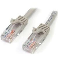 StarTech Cat5e Patch Cable With Snagless RJ45 Connectors 1M Gray