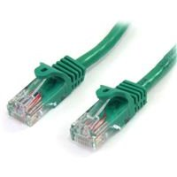 SatrTech Cat5e Patch Cable With Snagless RJ45 Connectors   2M Green