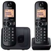 'Panasonic Kx-tgc212eb Twin Dect Phone - Black