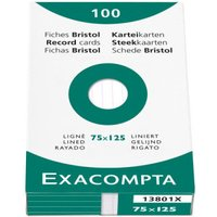 Exacompta 100x150mm Lined Record Cards- Pack of 100