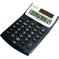 Aurora EcoCalc 12 Digit Desk Calculator - Black