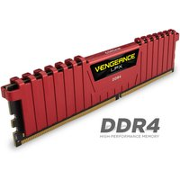 Corsair Vengeance LPX 8GB (2x4GB) DDR4 DRAM 2400MHz C14 Memory Kit - Red 1.2V sale image