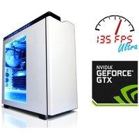 Cyberpower Gaming Warfare Xtreme Desktop PC, Intel Core i7-5820K 3.3GHz, 16GB RAM, 240GB SSD, 1TB HDD, No-DVD, NVIDIA GTX 980, Windows 10 64bit