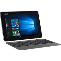 Asus Transformer Book T100HA Convertible Laptop, Intel Quad-Core Atom X5-Z8500 1.44GHz, 2GB RAM, 64GB eMMC, 10.1andquot; Touch, No-DVD, Intel HD, WIFI, Bluetooth, 2 Cameras, Windows 10 Home 32bit