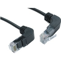 0.5mtr CAT 5 E UTP Right Angled Up to Right Angled Down Black