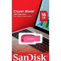 SanDisk 16GB Cruzer Blade USB - Electric Pink