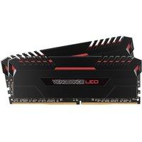 Corsair Vengeance LED 16GB (2 x 8GB) DDR4 DRAM 3000MHz C15 Memory Kit - Red LED Lighting